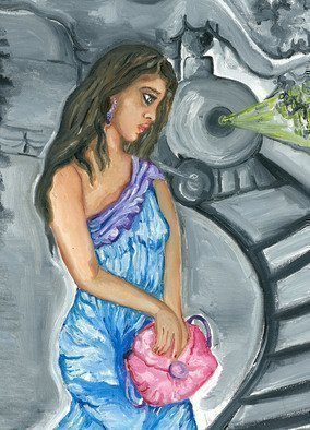 Sangeetha Bansal Artwork When I am gone, 2015 Oil Painting, People