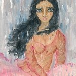 Woman crying in the rain By Sangeetha Bansal
