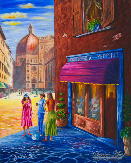 Saeed Hojjati  'Life In Florence', created in 2011, Original Painting Oil.