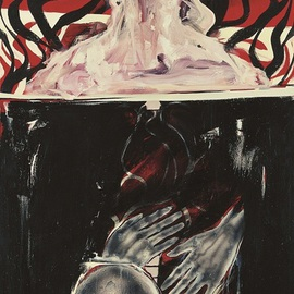 Sara Arianpour: 'Nobody', 2008 Acrylic Painting, Figurative. Artist Description:   figurative expressionism          ...