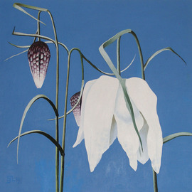 Sarah Longlands: 'Fritilaries', 2008 Oil Painting, Philosophy.