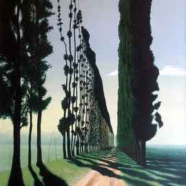 Sarah Longlands: 'Isola Pioppi', 2006 Oil Painting, Ethereal. Artist Description:  To the End of the Road. ...