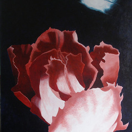 Sarah Longlands: 'Undecided Tulip by Full Moon', 2006 Acrylic Painting, Philosophy. Artist Description:   Which Way Now?                 ...