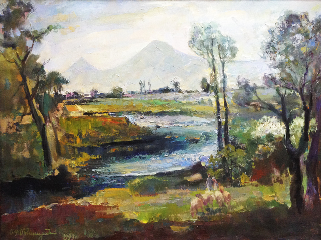 Sar Gallery  'Ararat Valley', created in 1999, Original Painting Oil.