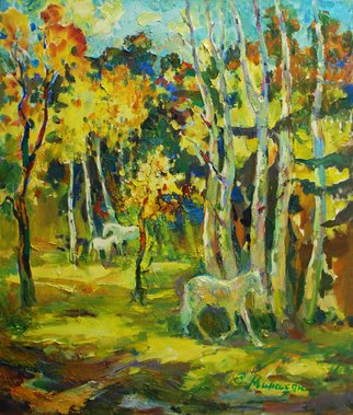 Sar Gallery Artwork Autumn day, 2014 Oil Painting, Landscape