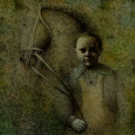 Boy with a horse By Sasha Tsyganov