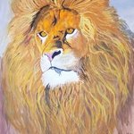 lion painting By Art Sbk