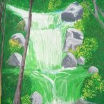 waterfall in jungle By Art Sbk