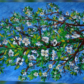 Shachindra Bisht Artwork June, 2009 Acrylic Painting, Floral