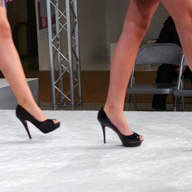 Susan Brannon: 'Florence Fashion', 2012 Color Photograph, Fashion. Artist Description:  Florence, Italy, The runway, fashion, legs, high heels, walking, fashion show, women, photography, susan brannon ...
