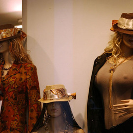 Susan Brannon: 'Mannequins', 2012 Color Photograph, Fashion. Artist Description:   Lucca, Italy, mannequins, women, fashion, window, tops, hats, sunglasses, abstract, documentary, culture,  photography, susan brannon    ...