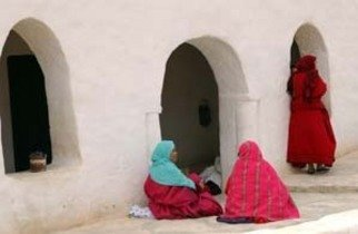 Artist: Susan Brannon - Title: Tunisia Women in Color - Medium: Color Photograph - Year: 2012