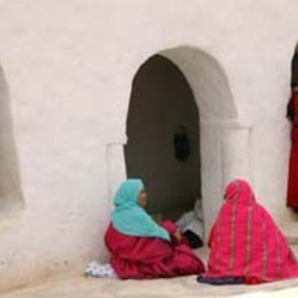 Susan Brannon: 'Tunisia Women in Color', 2012 Color Photograph, Culture. Artist Description:     Tunisia, countryside, landscape, women, color, bright color, siting outside, mud building, brown, desert, non profit, humanitarian, life, documentary, culture,  photography, susan brannon       ...