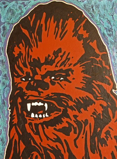 Artist David Mihaly. 'Chewbacca' Artwork Image, Created in 2016, Original Mixed Media. #art #artist
