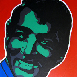 David Mihaly: 'Dean Martin', 2003 Acrylic Painting, Famous People. Artist Description:  Pop portrait of Dean Martin...