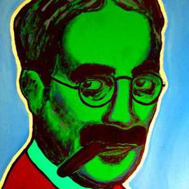 David Mihaly: 'Groucho', 2003 Acrylic Painting, Portrait. Artist Description: Pop portarait of Groucho Marx...