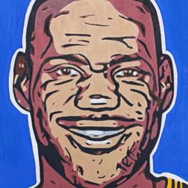 David Mihaly: 'Lebron James', 2017 Acrylic Painting, Sports.