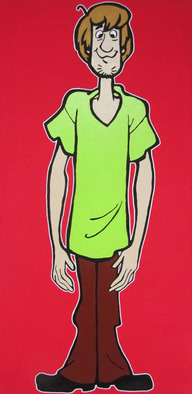 David Mihaly Artwork Shaggy, 2011 Acrylic Painting, Television