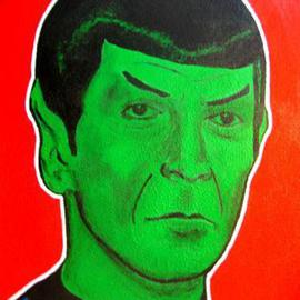 David Mihaly: 'Spock', 2004 Acrylic Painting, Portrait. Artist Description: Pop portrait of Spock - live long and prosper!...