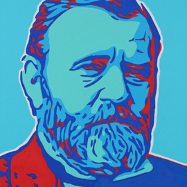 David Mihaly: 'U S Grant', 2017 Acrylic Painting, History. Artist Description: Contemporary pop art portrait of President Grant...