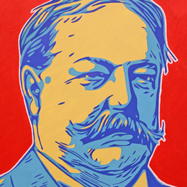 David Mihaly: 'william howard taft', 2017 Acrylic Painting, Political. Artist Description: Contemporary Pop Art portrait of President Taft...