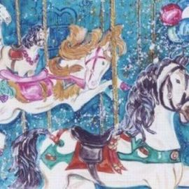 Lenore Schenk Artwork The Carousel, 2007 Watercolor, Other