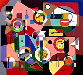 Alberto Sciortino Artwork la cena, 2012 Acrylic Painting, Food