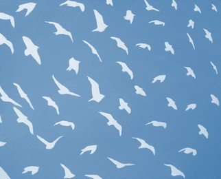 Scott Mackenzie: 'Birds', 2016 Oil Painting, Birds.  I love seeing a large flock of birds move across the sky and this painting shows the joy of this movement.  ...