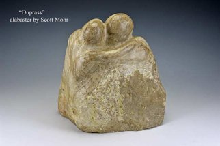 Scott Mohr: 'Duprass', 1996 Stone Sculpture, Figurative.  Original alabaster carving. The name comes from K. Vonnegut's