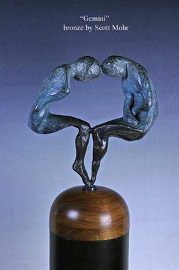 Bronze Sculpture by Scott Mohr titled: Gemini, created in 1979