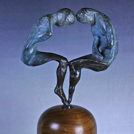 Scott Mohr: 'Gemini', 1979 Bronze Sculpture, Figurative. Artist Description:  My mother was a Genini and inspired this sculpture. The enigmatic twins ...