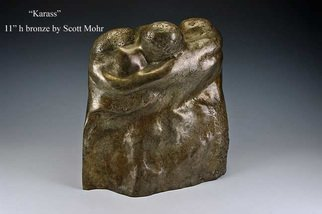 Scott Mohr: 'Karass', 1995 Bronze Sculpture, Figurative. Artist Description:  The name comes from K. Vonnegut's