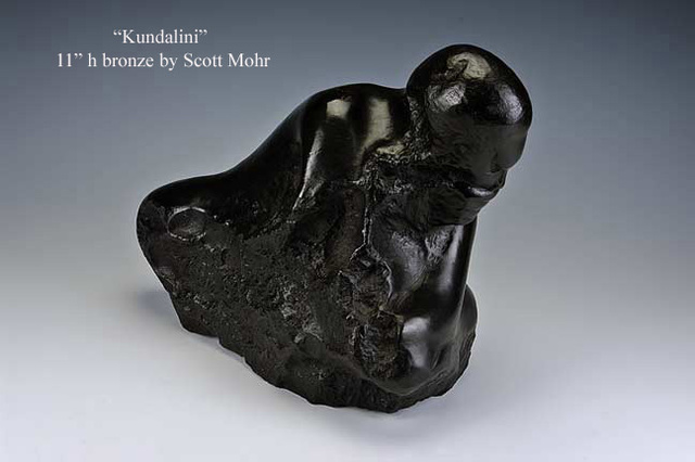 Scott Mohr  'Kundalini', created in 1996, Original Sculpture Stone.