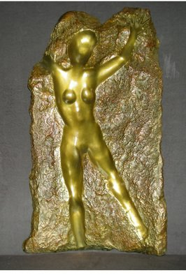 Scott Mohr: 'Through the Veil', 2004 Bronze Sculpture, Figurative. Artist Description:  From an original alabaster carving this copy in bronze expresses the desire to connect to the other side to find our true self our higher being  ...