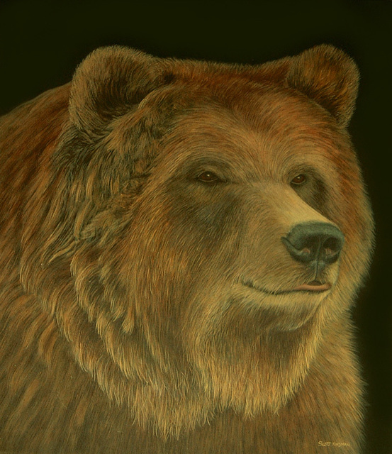 Scott Kinsman  'Grizzly Bear', created in 2002, Original Painting Acrylic.