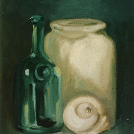 Bottle, Jar, Seashell