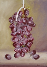 - artwork Hanging_Grapes-1302209748.jpg - 2009, Painting Oil, Still Life