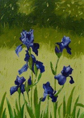 S. Josephine Weaver Artwork Iris Row, 2009 Oil Painting, Still Life