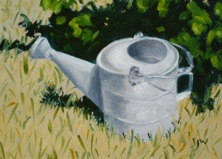 S. Josephine Weaver Artwork Watering Can, 2007 Oil Painting, Still Life