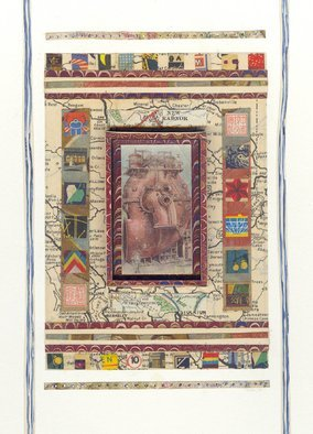 Robert H. Stockton: 'Mechanics of the Human Heart', 2010 Mixed Media, Love. This mixed media piece combines a variety of vintage papers and opaque watercolor.  The heart of the title is contained within a small shadow box at the center of the composition.  The piece is matted with white museum board, under glass, and is framed to a size of 10 x ...