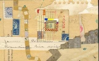 Robert H. Stockton Artwork Sad Letter Home, 2006 Collage, Abstract