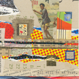 Robert H. Stockton Artwork The Pursuit of Happiness, 2006 Collage, Abstract Figurative