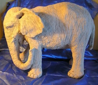 Animals Ceramic Sculpture by Leila Desborough titled: Elephant, created in 2007