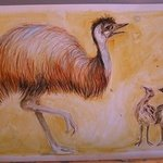 Emu and chickes By Leila Desborough