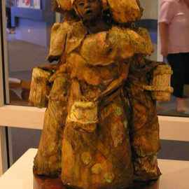 Leila Desborough: 'Tribal Fusion', 2007 Ceramic Sculpture, Ethnic. Artist Description:  Representing the fusing of like minded people into a spiritual mass ...