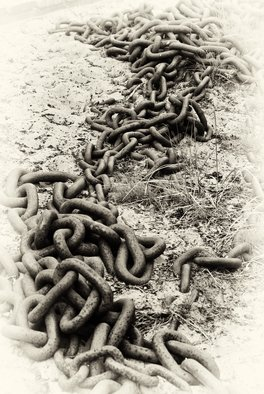 Stef Dorin Artwork The Chain, 2007 Black and White Photograph, Abstract