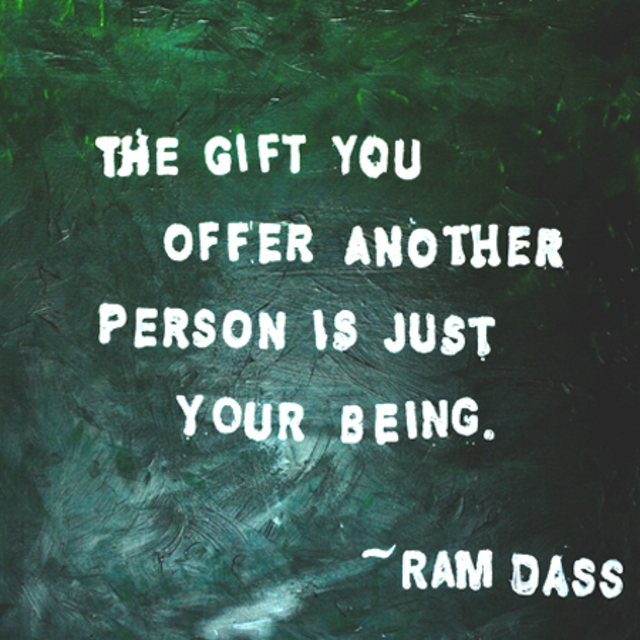 Painted Quote Featuring Ram Dass Acrylic Painting By Melissa Moore