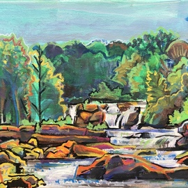 Sean Willett: 'high falls', 2019 Acrylic Painting, Home. Artist Description: Swimming ole...