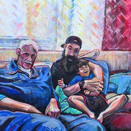 Sean Willett: 'pliktas', 2019 Acrylic Painting, Home. Artist Description: Family portrait...