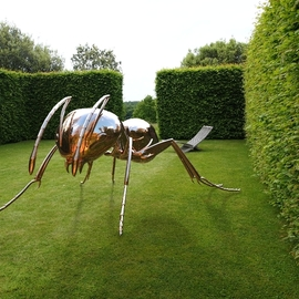 Sebastian Novaky: 'bioregulation 1', 2015 Steel Sculpture, Abstract. Artist Description: Giant Ant or Bug Garden sculpture, by Sebastian Novaky.Massive Stainless steel Ant statue sculpture for sale for Outside Outdoors In the Garden or Yard. ...